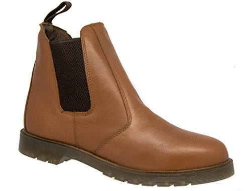 Mens Grafters Tan Brown Leather Dealer Boots ny1Pe