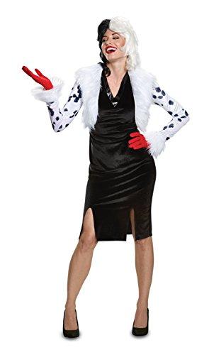 Disguise Women's Plus Size Cruella De Vil Deluxe Adult Costume, White, XL (18-20) -