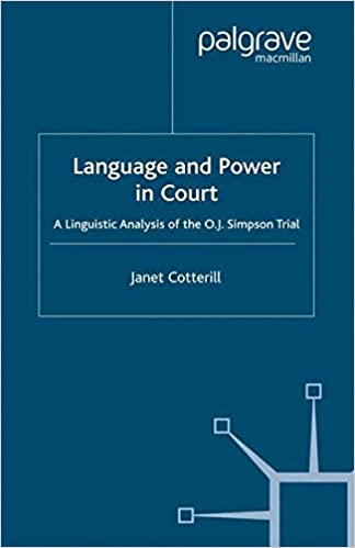 Download online Language and Power in Court: A Linguistic Analysis of the O.J. Simpson Trial PDF, azw (Kindle)