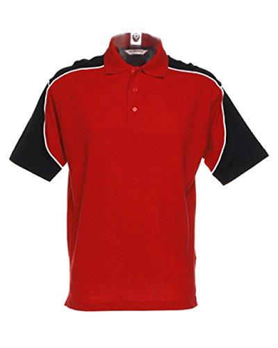 New Formula Racing Monaco maniche corte, colletto Polo Sports Wear-T-Shirt Multicolore Red/Black/White