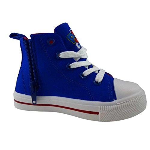Paw Patrol - Zapatillas de baloncesto de Lona para niño azul azul