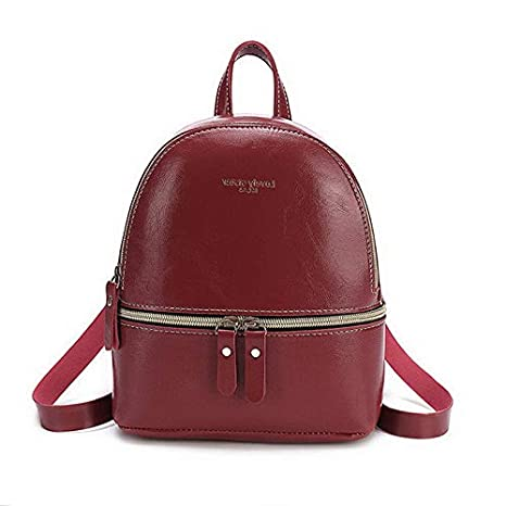 869 Mikash US Women Girl Mini Faux Leather Backpack Rucksack School Bag Travel Handbag Model TRVLWLLT