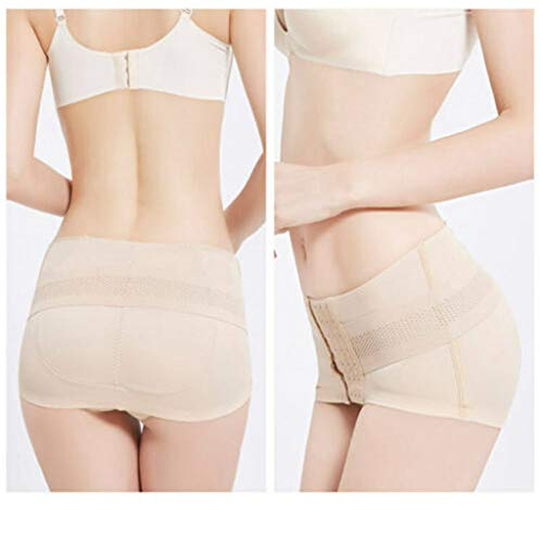 Pelvic Correction Belt  Hip-Up Pelvic Posture Correcting Belt Postpartum Recovery (Beige, XL)