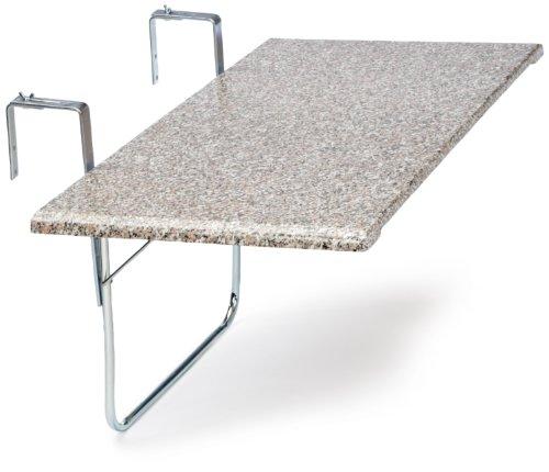 Balkon Klapptisch Für Geländer.Videx 16402 Balkonklapptisch Terrazo Design 51x102cm Rechteckig Marmoriert
