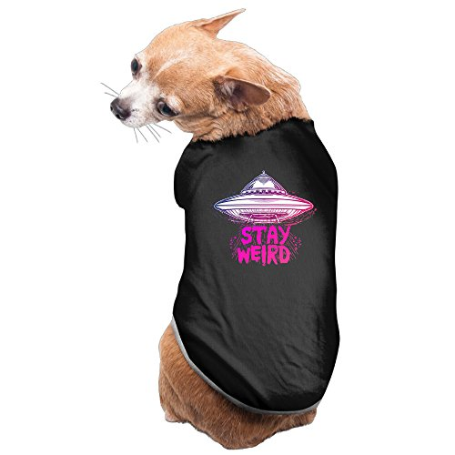 Alien Dog Costumes (Stay Weird Aliens Spaceship Small Dogs CoolPrinted Tank Tops Outfit)