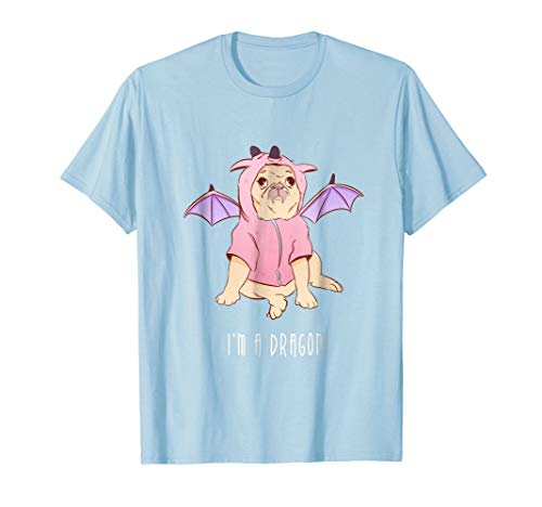 I'm A Dragon - Funny Pug Dog In Costume T-Shirt ()
