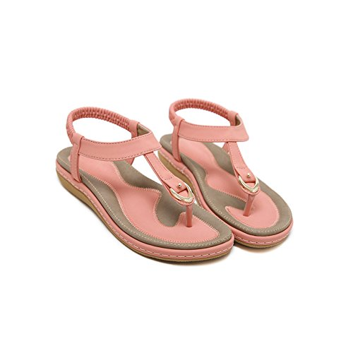 Tong Rose Plat Fermeture Casual Confortable Plates Sandales Eté Elastique Femme Phorecys Oqxwv1Y61