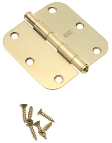 Stanley National Hardware S800-130 759 Solid Brass Round Corner Residential Hinge in Brass , 3-1/2''
