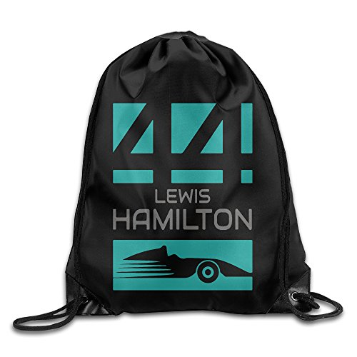 BG FunnyM Lewis Hamilton 44 F1 Sport Backpack Drawstring Print Bag