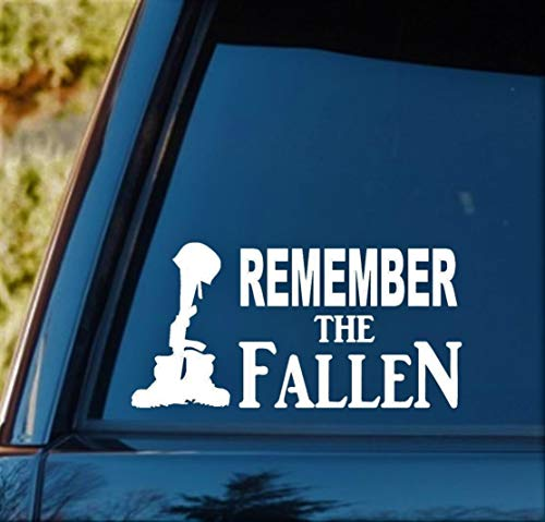 Bluegrass Decals F1055 Remember The Fallen Soldier Decal Sticker