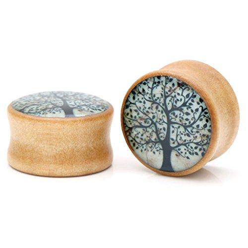 jovivi-2-14pc-organic-wood-tree-of-life-double-flare-saddle-plugs-ear-flesh-tunnel-expander-0g-3-4-g