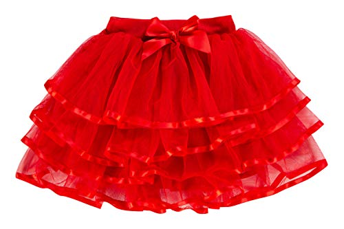 storeofbaby Baby Girls Fluffy Tutu Skirt Toddler Birthday Party Pleated Pettiskirt Red]()