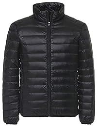 Kwiten Mens Winter Puffer Jacket Light Packable Down Jacket