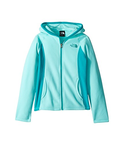 Full Zip Jacket Embroidered Hooded - The North Face Girl's Glacier Full Zip Hoodie - Mint Blue - XXS