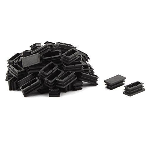 uxcell Plastic Table Chair Legs Feet Rectangle Tubing Tube Inserts Caps Covers 40 x 20mm 60pcs - 1/2' Racking Tube