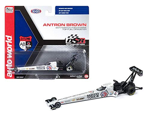 (MWDx102 AUTO World AWSP006 2017 NHRA TOP Fuel Dragster 1:64 MATCO Tools Antron Brown New)