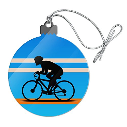 Graphics and More Road Bike Cycling Biking Bicycle Acrylic Christmas Tree Holiday Ornament (Ornament Holiday Bicycle)