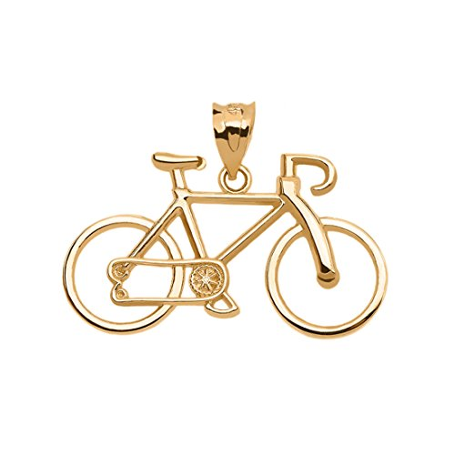 Bicycle Sports Charm Bike Pendant in 14k Yellow Gold
