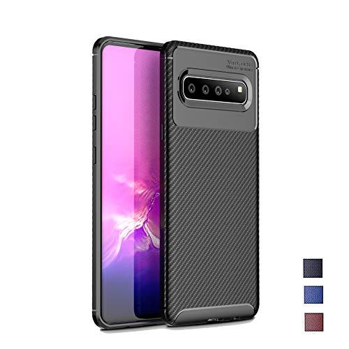 Galaxy S10 5G Case, Turphevm Slim Lightweight Soft TPU Case Flexible Scratch Resistant Shock Resistant Anti-Fingerprint Protective Cover for Samsung Galaxy S10 5G (2019) (Black)