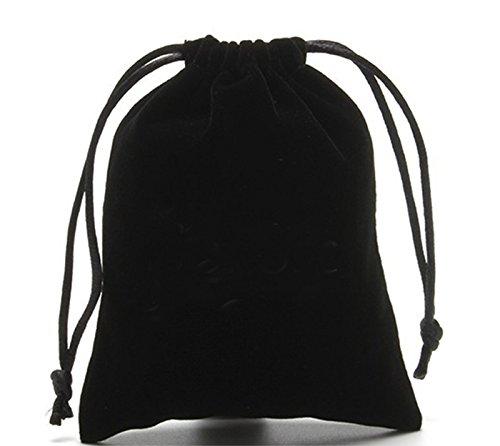 9cm Drawihi Velvet Coulisse sacchetti di gioielli Borse Sacchetti di caramelle Sacchetti regalo Accessori per gioielli Borse per cellulari Nero 7