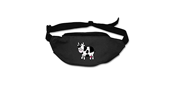 4b56b0435a8f Amazon.com : RianGo Cute Cartoon Cow Waist Pack Bag Fanny Pack for ...