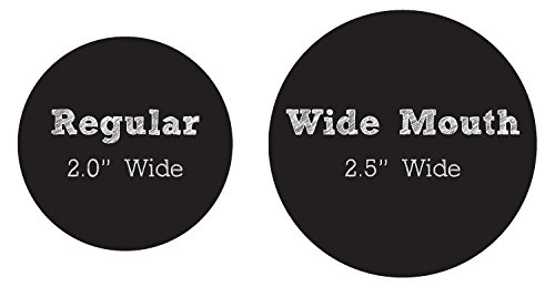 72 Round Chalkboard Stickers For Mason Jar Lid Canning