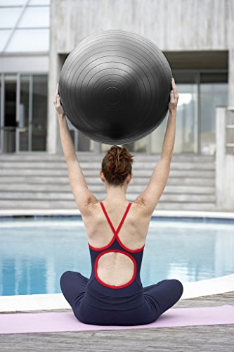 BSTPOWER Exercise Ball(45-85cm) - Non-Slip Stability Ball - Anti Burst Yoga Ball - Heavy Duty Balance Ball - Extra Thick Fitness Ball for Home, Gym, Office with Quick Pump(Office & Home & Gym) by BSTPOWER (Image #4)