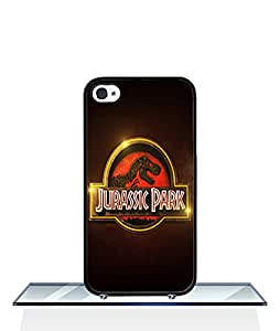 Cell Phone Apple Iphone 4 / 4s Funda Case, With Jurassic World Logo Style Colorful Pattern Hard Plastic And Protective Film Mirror Funda Case Cover Fits For Apple Iphone 4 / 4s
