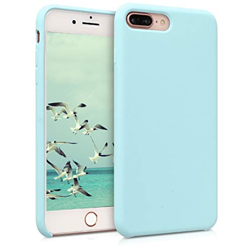 (kwmobile TPU Silicone Case for Apple iPhone 7 Plus / 8 Plus - Soft Flexible Rubber Protective Cover - Mint Matte)