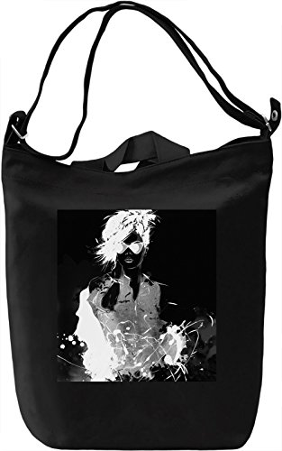 Black and White Girl Borsa Giornaliera Canvas Canvas Day Bag| 100% Premium Cotton Canvas| DTG Printing|
