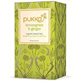 Cheap Pukka Herbs Organic Herbal Tea, Lemongrass & Ginger – 20 Tea Bags, 3 Pack