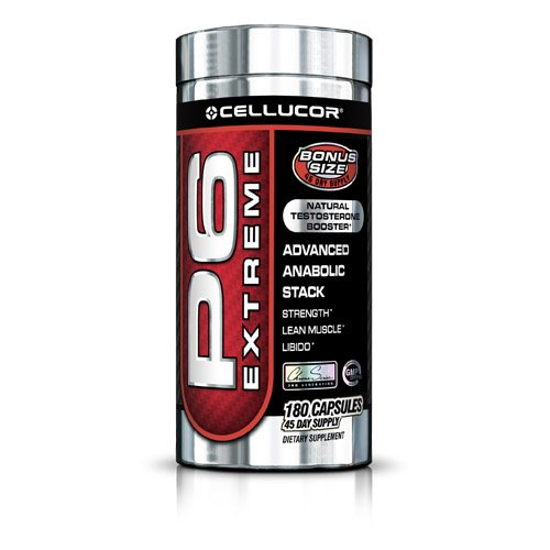 Cellucor - P6 Extreme Natural Testosterone Booster - 180 Capsules