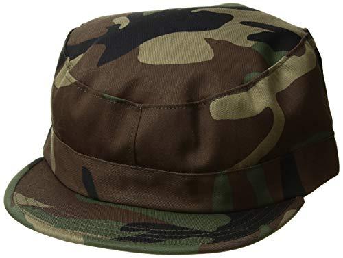 (Propper Men's Bdu Patrol Cap - 65/35 Twill, Woodland, Medium)