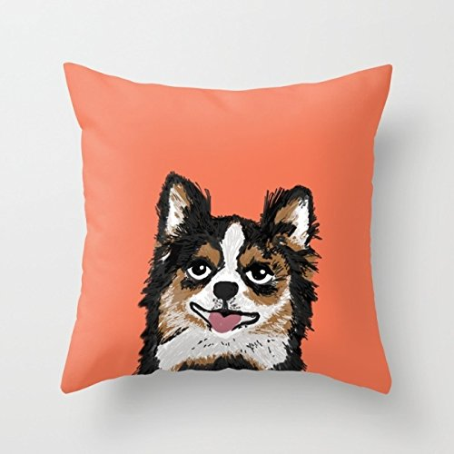 [Elegancebeauty Dogs Pillowcase 16 X 16 Inches / 40 By 40 Cm Best Choice For Living Room,kitchen,home,festival,girls,floor With Two] (Minion Costume Falls Over)