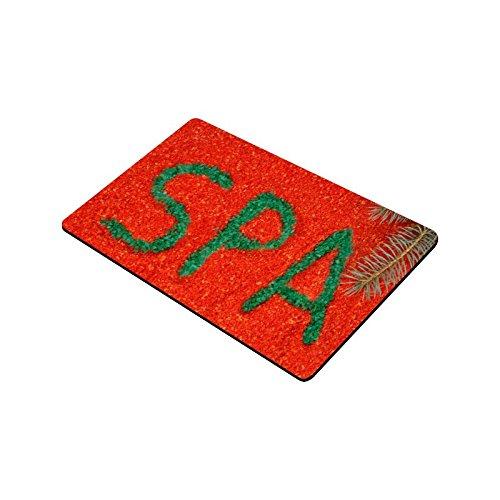 your-fantasia Sea Salt with Inscription SPA Floor Mat Doormat Non Slip Door Mat 30 x 18 Fantasia Salt