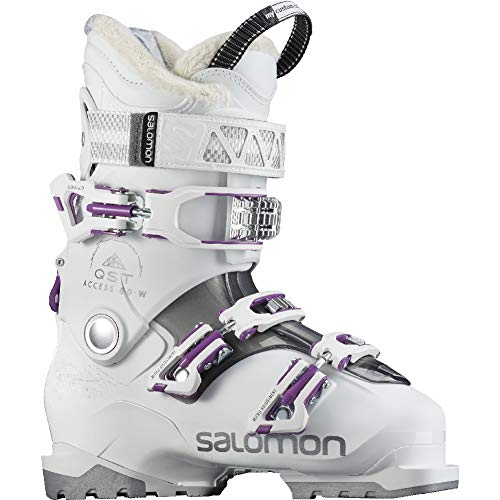 Salomon QST Access 60 W Womens Ski Boots 2018 - 23.5/White-Anthracite Translucent-P ()
