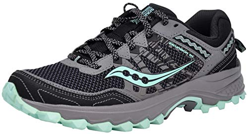 Saucony Women's Grid Excursion TR12 Running Shoes (9 M US, Black/Grey/Mint)