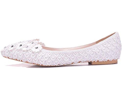 Blanc Blanc Sandales 5 36 MGM Compensées Femme Joymod wX6I6q