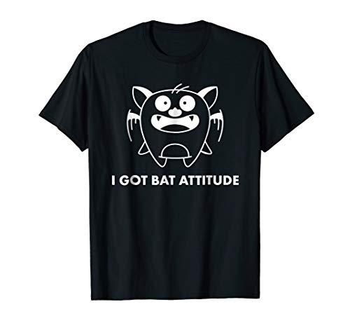 Funny Bat Attitude Bat Tshirt. Witty Bat Halloween Shirt -