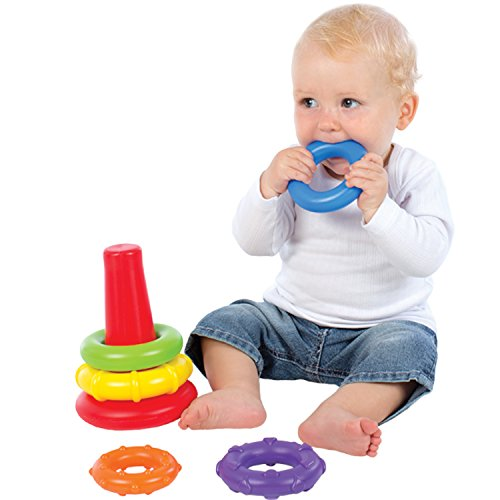 41gwnTd1TXL - Playgro4011455 Rock N Stack Toy (Rainbow) for baby infant toddler children