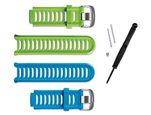 Garmin 010-11251-23 Forerunner 910XT Watch Bands, Green & Blue Bands