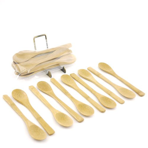 BambooMN Brand - Solid Bamboo Teaspoons 6.25