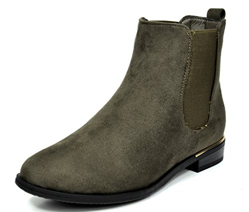 DREAM PAIRS CHESNEY Women's Stylish Elastic Side Panel Ankle Riding Chelsea Booties Shoes