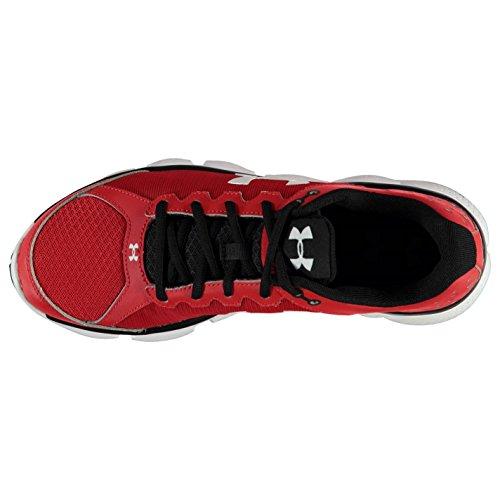 Under Armour Micro en nylon fait valoir 6Chaussures de Course pour Homme Rouge/Noir Baskets Sneakers