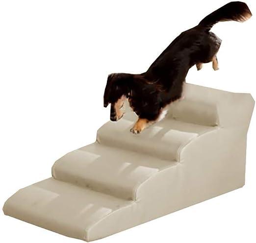 Rclt Escaleras for Perros PU, Escalera de 4 Pasos for Mascotas Escalera de rampa for Mascotas,