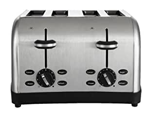 Oster 4-Slice Toaster, Brushed Metal (TSSTTRWF4S-SHP)