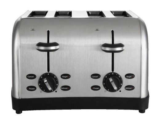 toaster 4 slice stainless - 9