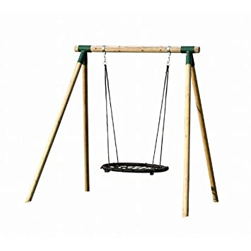 Woodini Chantall Nest Swing Wooden Frame: Amazon.co.uk: Garden ...