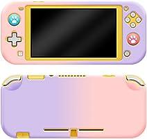 最新Nintendo switch lite対応 保護カバー スイッチライト専用ケース PC素材カバー (全面保護 、衝撃吸収、 装着簡単)グラデーション色、マット手触り、アナログスティックカバー付き