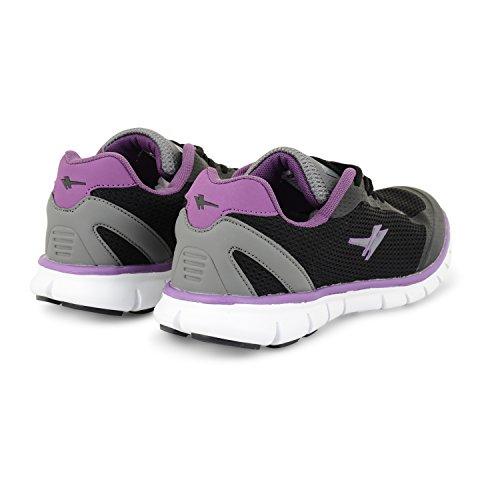 Dames Pour Noir Jogging Formateurs Tailles Uk Femmes De Casual Gola Gris Violet Chaussures Gym Chaussures Sport Course De r1qrgwA8
